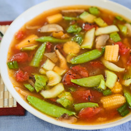 Hot-and-Sour Asian Vegetable Soup