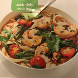 Hot-and-sour shrimp noodle soup