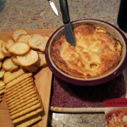 Hot & Cheesy Brushetta Dip