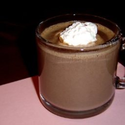 Hot Chocolate with Pink Peppermint Whipped Cream