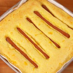 Hot Dog Stuffed Cornbread