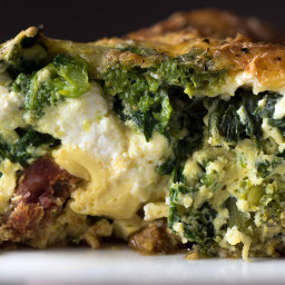 Hot Italian Sausage and Broccoli Rabe Frittata