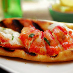 Hot Lobster Roll with Lemon-Tarragon Butter
