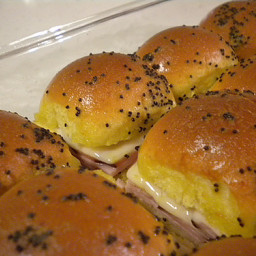 Hot & Melty Oven Baked Ham & Swiss Sandwiches