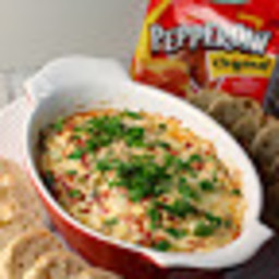 Hot Pepperoni Muffuletta Dip