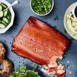Hot-Smoked Salmon with Tarragon Crème Fraîche