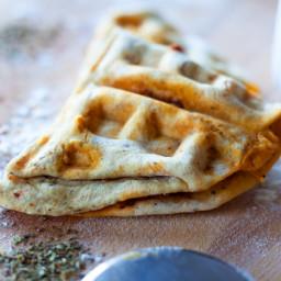 Hot to Make Waffle Iron Pizza