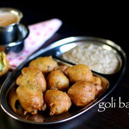 hotel style goli baje recipe | restaurant style mangalore bajji or bonda