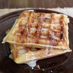How to Make Gluten-Free Cinnamon Bun Waffles