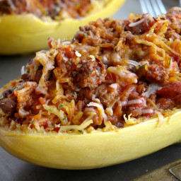 How to Make Stuffed Spicy Italian Spaghetti Squash Boats