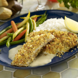How to Make Tasty Tilapia Fillets with Mustard-Pecan Topping
