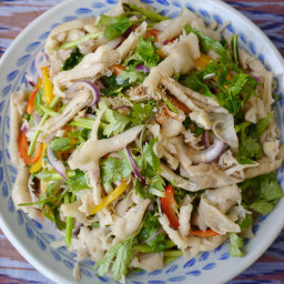 How to make yum tien gai - Lao chicken feet salad recipe