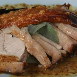 How to roast pork loin with crackling