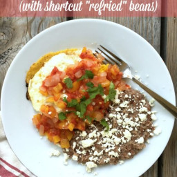 Huevos Rancheros (with shortcut refried beans)