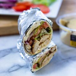Hummus and chicken Wraps (Quick, Healthy, Adaptable)