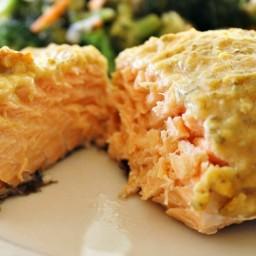 Hummus Crusted Salmon