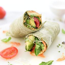 Hummus Veggie Wrap Plus 10 Heavenly Hummus Recipes to Make at Home