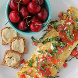 Hummus and Feta Omelet