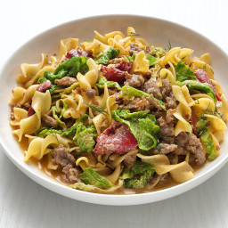 Hungarian Noodles with Sausage