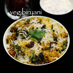 hyderabadi vegetable biryani recipe | veg biryani recipe