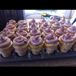 Ice Cream Cone Cupcakes