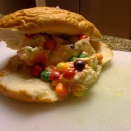Ice Cream Sandwich with Skittles