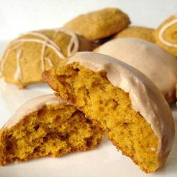 Spicy Glazed Pumpkin Cookies