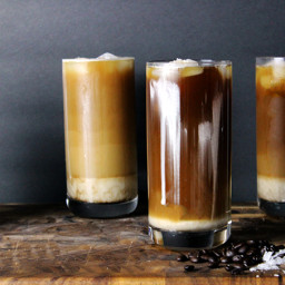 Iced Sea Salt Coffee (Cold Brewed)
