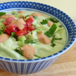 Icy Cold Avocado and Cucumber Soup