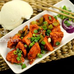 idli manchurian recipe | idli manchuria recipe | leftover idli recipes