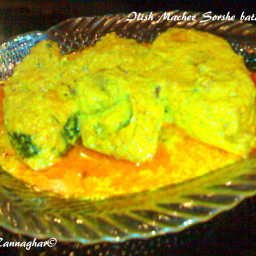 Ilish Macher Sorshe bata diye Jhal | Hilsa Fish in Mustard Gravy