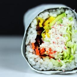 Imitation Crab California Roll Burrito