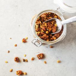 incredible five spice pumpkin quinoa granola