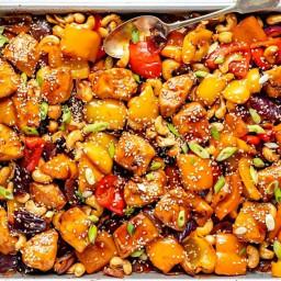 Incredible Sheet Pan Cashew Chicken Recipe