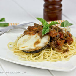 India-Eggplant Parmesan Spaghetti with Meat Sauce