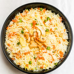 Indian Coconut Rice Pulao from Coconut Cream