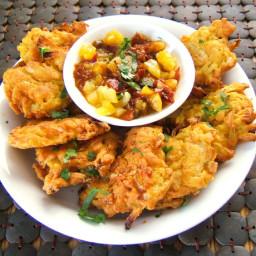 Indian Restaurant Style Onion Bhaji - Deep Fried Onion Fritters