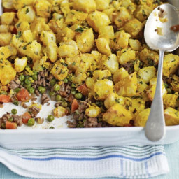 Indian-spiced shepherd's pie