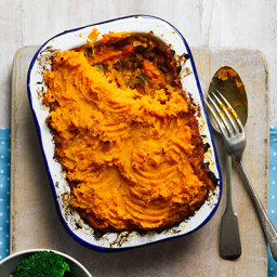 Indian sweet potato and dhal pies