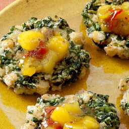 Indian Spinach-and-Chickpea Fritters