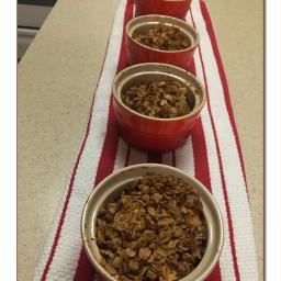 Individual Apple, Cranberry, and Walnut Crisps