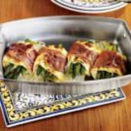 Individual Lasagnas with Asparagus and Prosciutto