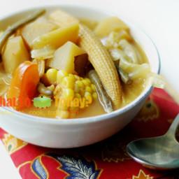 INDONESIAN VEGETABLE TAMARIND SOUP / SAYUR ASAM (6 servings)