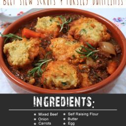 Instant Pot Beef Stew Scraps and Parsley Dumplings
