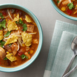 Instant Pot® Cheesy Chicken Taco Soup