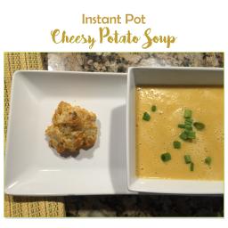Instant Pot Cheesy Potato Soup