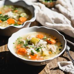 Instant Pot Chicken Soup (Gluten-Free, Paleo)
