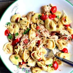 Instant Pot Creamy Basil Chicken and Tortellini