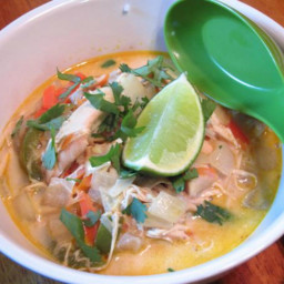 Instant Pot Curried Coconut Chicken Soup
