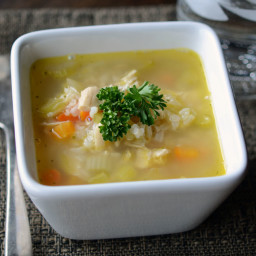 Instant Pot Gluten Free Dairy Free Chicken Ranch and Rice Soup